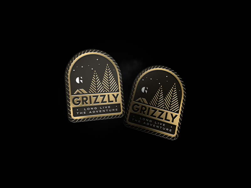 Grizz Pins2 grizzly gold branding adventure pin