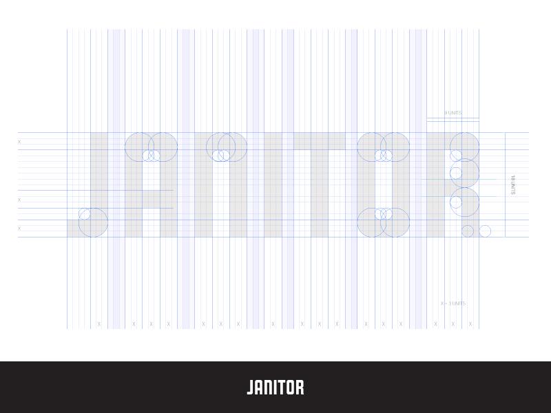 Janitor Architecture architecture identity wordmark custom san diego geometry branding logo