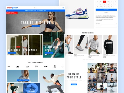SportOutlet Website Design ux web design online store online shop website website design web ecommerce ui design