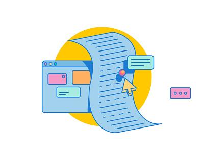 Illustrations for blog blog icon 2d flat illustration design