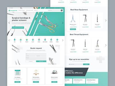Medical Supply Website Design supply medical medicine surgical website web ux ui online store online shop ecommerce design