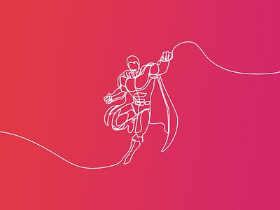 Line Illustrations insurance bussiness car climbing family umbrella handshake rocket superman illustration line drawing minimal line line art