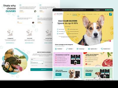 Dog food online store website web shop ecommerce ui design