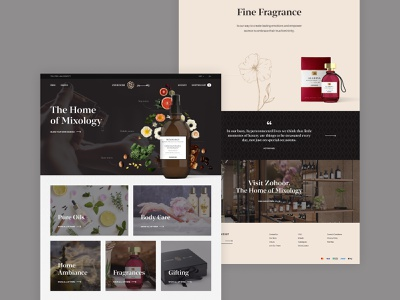 Fragrance Brand floral design web ux ui cosmetics care body flowers fragrance