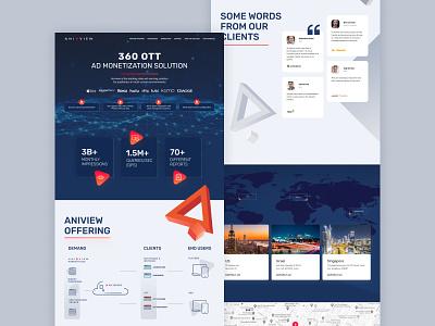 Video ad-serving platform landing page advertising ad video page landing web ecommerce ux ui design