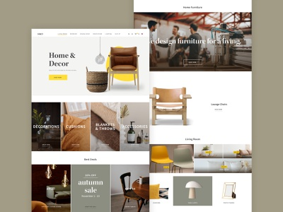 Home & Decor store store decor home website web ux ecommerce minimal ui design