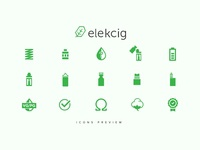 Elekcig vape shop icons
