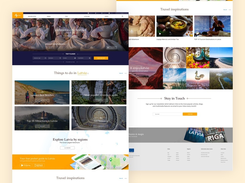 Magnetic - Latvia travel website experience new books map instagram photos riga latvia ux user interface ui design