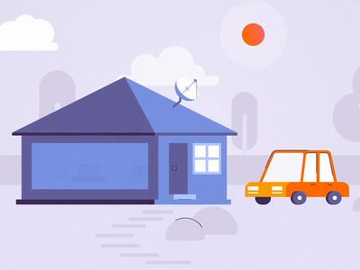A short scene from Hudya explainer video design character illustration 2d animation
