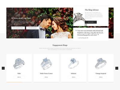 Homepage blocks redesign weeding website illustration icon friendly ux ui ecommerce minimal jewelry design