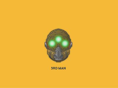 Mask of the Third Man video games helmet destiny bungie illustrator vector