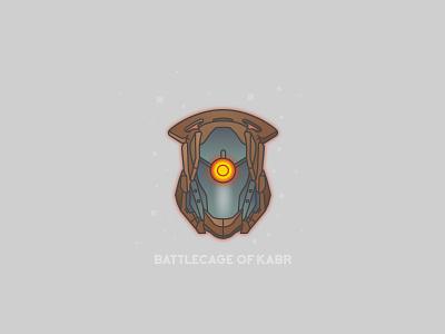 Battlecage of Kabr video games helmet destiny bungie illustrator vector