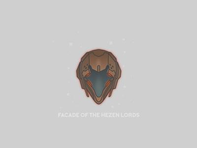 Facade of the Hezen Lords video games helmet destiny bungie illustrator vector