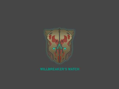 Willbreaker's Watch video games helmet destiny bungie illustrator vector