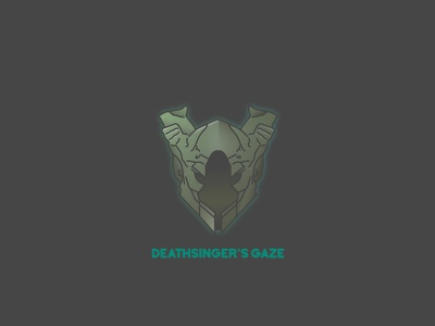 Deathsinger's Gaze video games helmet destiny bungie illustrator vector
