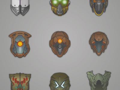 Destiny! video games helmet destiny bungie illustrator vector
