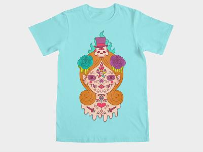 Voodoo Doll pantagram tattoos collab skull occult doll voodoo tee shirt threadless