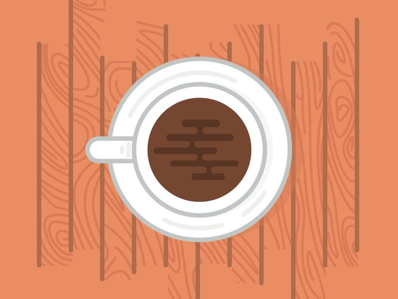 Sunday Morning Coffee art vector instagram coffee illustration