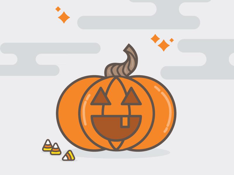 GUTS PGH illustration vector fall halloween pumpkin carving guts pumpkin