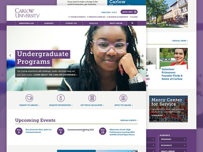 Carlow University Website Redesign