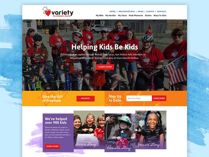 Variety Pittsburgh webdesign web nonprofit charity