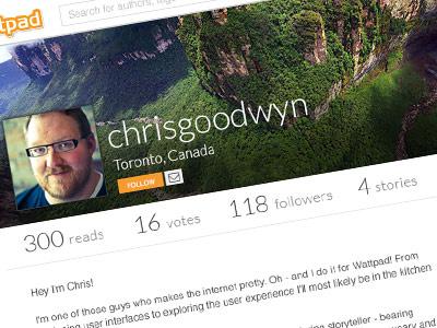 Wattpad Profile Design Update profile design ui desktop