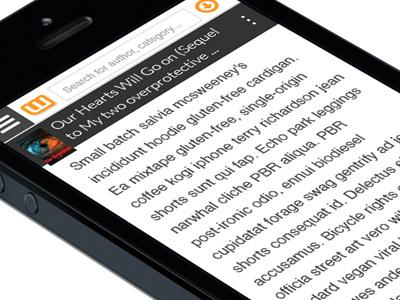 Concept - Wattpad Reading View ui mobile iphone slider menu reading