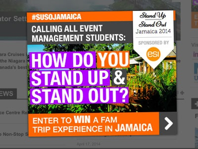 #SUSOJAMAICA Big Box Ad advertising big box contest web