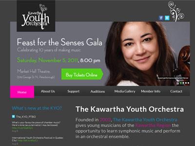 KYO Website website design orchestra music dark
