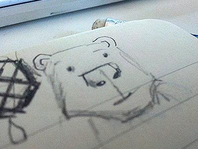 Doodlin bear pencil drawing