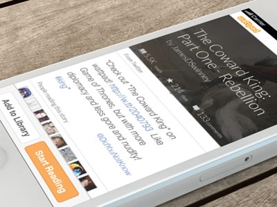 Wattpad Reading view - second shot reading ebook cover design initial experience user experience
