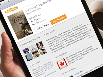 Reading View - Rebound - iPad Mini reading ebook cover design ipad mini initial experience user experience