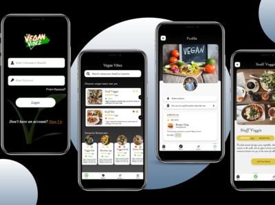 Food Review App Screen