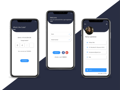 App Profile , OTP Screen