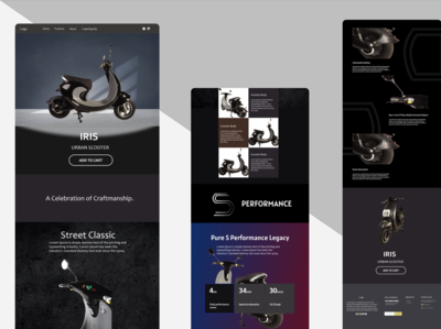 One page product Mockup