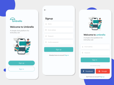 App Welcome, Login and Register