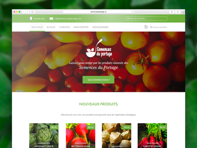 [2015] Semences Du Portage - Web design webdesign