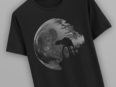 "[2016] ""Death Moon"" - Illustration moon death star poster shirt design art illustration"