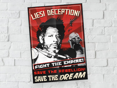 "[2017] ""Rebel Propaganda"" - Illustration rogue one shirt design star wars art poster illustration"