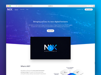 [2018] NIX Platform - Web design and development