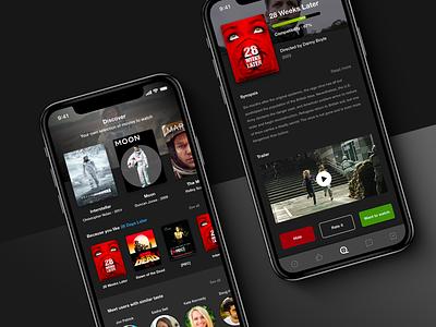 [2019] UI & UX design - Movies App Concept movies app concept ux design ui design