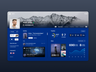 PS4 User Profile (Daily UI #006)