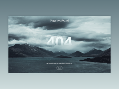 404 Page (Daily UI #008)