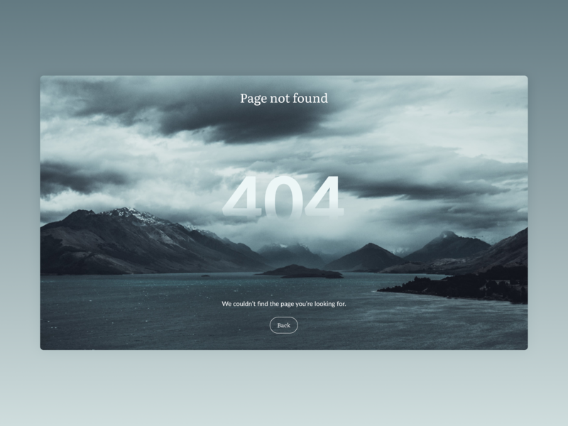 404 Page (Daily UI #008) website design web uidesign design concept 2d dailyui008 minimalist minimal error 404 404page website dailyui 008 daily ui 008 dailyui web design webdesign