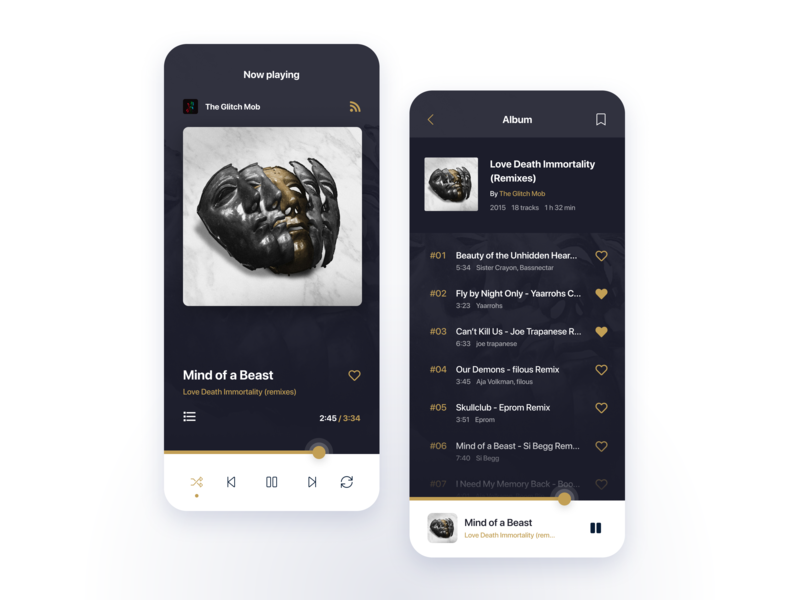 Music Player (Daily UI #009) application mobile dailyui 009 dailyui dailyui009 daily ui 009 concept 2d music player music app app mobile design mobile app mobile ui ux design uxdesign ux ui design uidesign ui