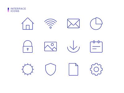 Interface Icons illustrator ios mobile clean flat website minimal web app ux vector ui icon illustration design
