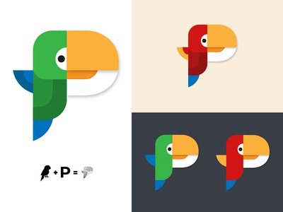 Daily Logo Challenge - Day 4 - Parrot / Single Letter P