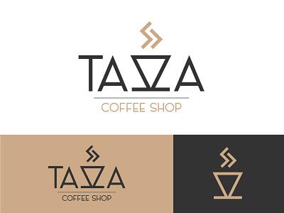 Daily Logo Challenge - Day 6 - Tazza Coffee Shop logotype logo illustration dailylogochallenge identité visuelle graphistol graphiste freelance design branding