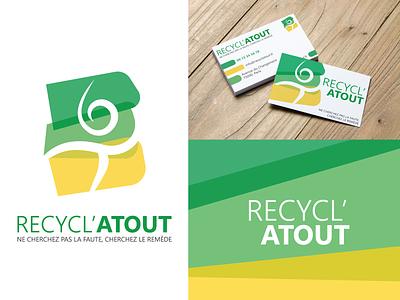 Logo - Recycl'Atout logotype logo illustration dailylogochallenge identité visuelle graphistol graphiste freelance design branding