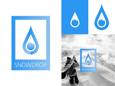 Daily Logo Challenge - Day 8 - SnowDrop logotype logo illustration dailylogochallenge identité visuelle graphistol graphiste freelance design branding